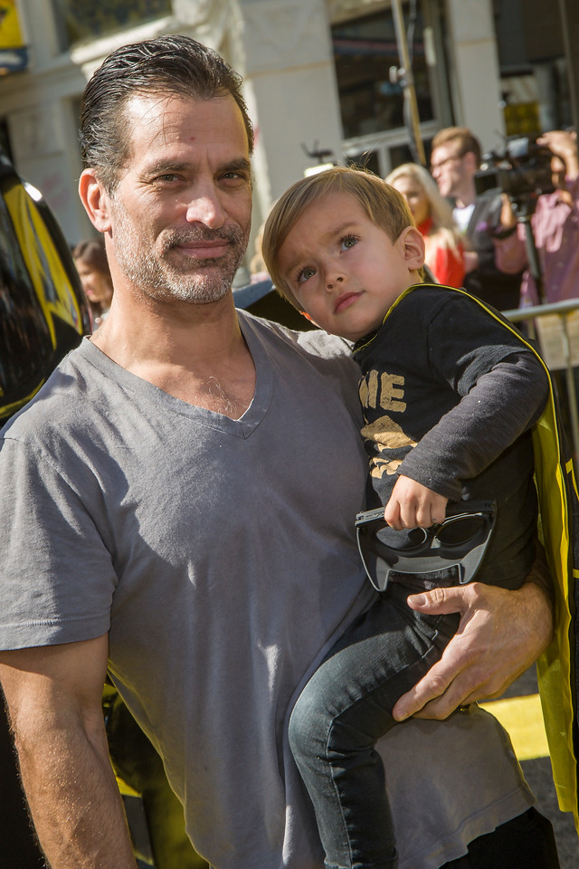 WESTWOOD, CA - FEBRUARY 04: Johnathon Schaech and Camden Quinn Schaech attend the premiere Of Warner Bros. Pictures' 'The LEGO Batman Movie' at Regency Village Theatre on Saturday February 4, 2017 in Westwood, California. (Photo by Tom Sorensen/Moovieboy Pictures)