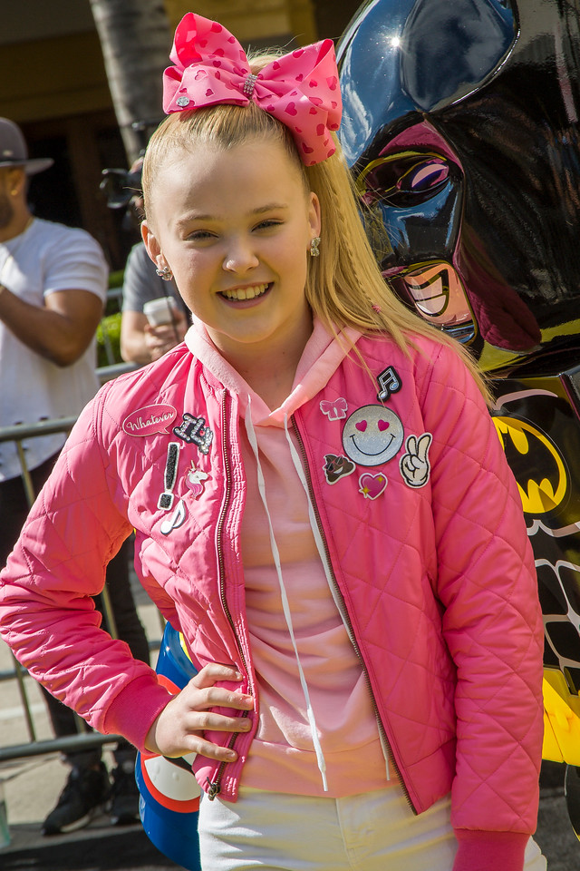 WESTWOOD, CA - FEBRUARY 04: Dancer JoJo Siwa attends the premiere Of Warner Bros. Pictures' 'The LEGO Batman Movie' at Regency Village Theatre on Saturday February 4, 2017 in Westwood, California. (Photo by Tom Sorensen/Moovieboy Pictures)