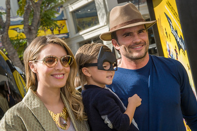 WESTWOOD, CA - FEBRUARY 04: L-R) Monica Fonseca, Joaquin Raba Fonseca, and Juan Pablo Raba attend the premiere Of Warner Bros. Pictures' 'The LEGO Batman Movie' at Regency Village Theatre on Saturday February 4, 2017 in Westwood, California. (Photo by Tom Sorensen/Moovieboy Pictures)