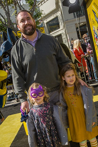 WESTWOOD, CA - FEBRUARY 04: NFL player Ryan Kalil and children attend the premiere Of Warner Bros. Pictures' 'The LEGO Batman Movie' at Regency Village Theatre on Saturday February 4, 2017 in Westwood, California. (Photo by Tom Sorensen/Moovieboy Pictures)