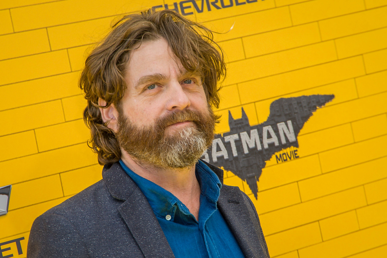 WESTWOOD, CA - FEBRUARY 04: Actor Zach Galifianakis attends the premiere Of Warner Bros. Pictures' 'The LEGO Batman Movie' at Regency Village Theatre on Saturday February 4, 2017 in Westwood, California. (Photo by Tom Sorensen/Moovieboy Pictures)