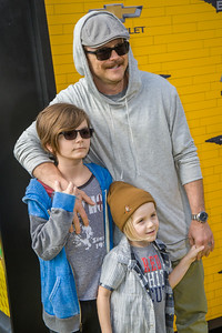 WESTWOOD, CA - FEBRUARY 04: Actor Clayne Crawford and family attend the premiere Of Warner Bros. Pictures' 'The LEGO Batman Movie' at Regency Village Theatre on Saturday February 4, 2017 in Westwood, California. (Photo by Tom Sorensen/Moovieboy Pictures)