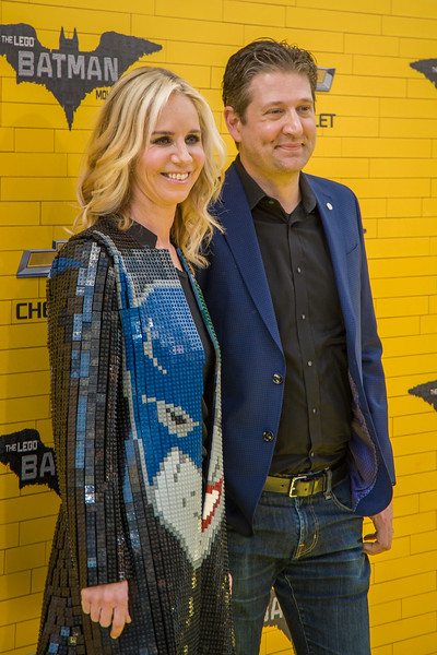WESTWOOD, CA - FEBRUARY 04: President of DC Entertainment and President of Warner Bros. Consumer Products Diane Nelson and LEGO brick artist, The Art of the Brick' Nathan Sawaya attend the premiere Of Warner Bros. Pictures' 'The LEGO Batman Movie' at Regency Village Theatre on Saturday February 4, 2017 in Westwood, California. (Photo by Tom Sorensen/Moovieboy Pictures)