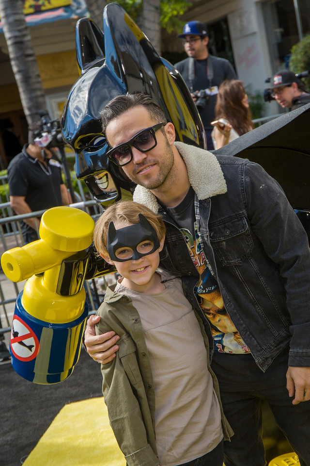 WESTWOOD, CA - FEBRUARY 04: Musician Pete Wentz and guest attend the premiere Of Warner Bros. Pictures' 'The LEGO Batman Movie' at Regency Village Theatre on Saturday February 4, 2017 in Westwood, California. (Photo by Tom Sorensen/Moovieboy Pictures)