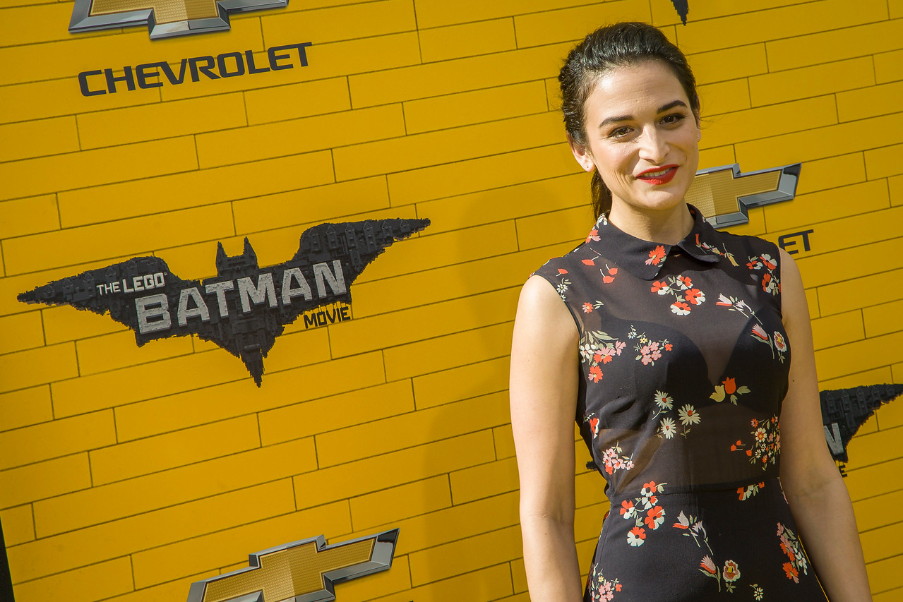 WESTWOOD, CA - FEBRUARY 04: Actress Jenny Slate attends the premiere Of Warner Bros. Pictures' 'The LEGO Batman Movie' at Regency Village Theatre on Saturday February 4, 2017 in Westwood, California. (Photo by Tom Sorensen/Moovieboy Pictures)