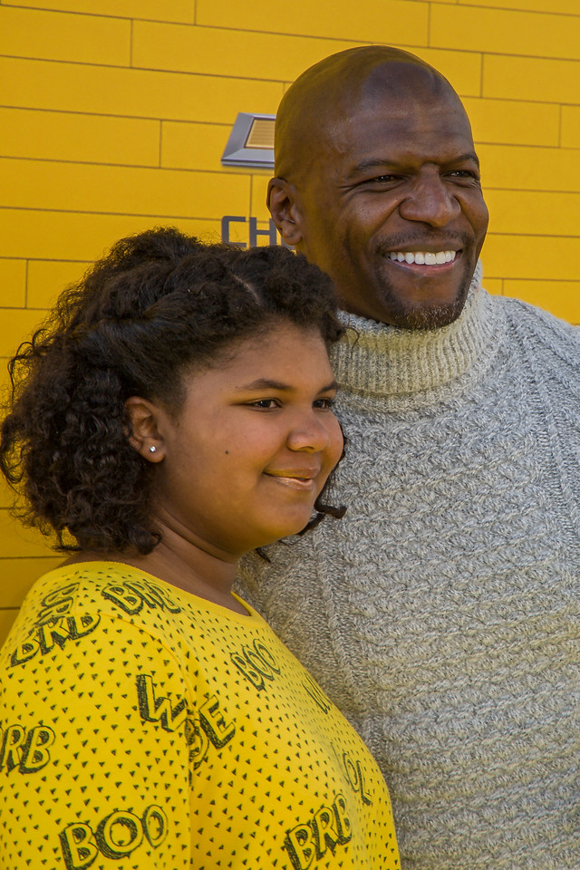 WESTWOOD, CA - FEBRUARY 04: Actor Terry Crews and daughter Wynfrey Crews attend the premiere Of Warner Bros. Pictures' 'The LEGO Batman Movie' at Regency Village Theatre on Saturday February 4, 2017 in Westwood, California. (Photo by Tom Sorensen/Moovieboy Pictures)