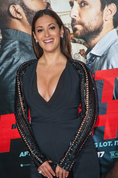 WESTWOOD, CA - FEBRUARY 13: Actress Angelique Cabral attends the premiere of Warner Bros. Pictures' 'Fist Fight' on Monday February 13, 2017 in Westwood, California. (Photo by Tom Sorensen/Moovieboy Pictures)