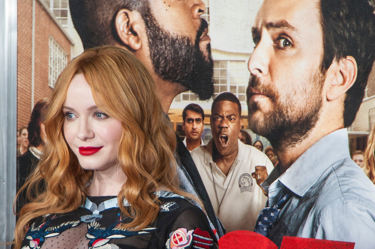 WESTWOOD, CA - FEBRUARY 13: Actress Christina Hendricks attends the premiere of Warner Bros. Pictures' 'Fist Fight' on Monday February 13, 2017 in Westwood, California. (Photo by Tom Sorensen/Moovieboy Pictures)