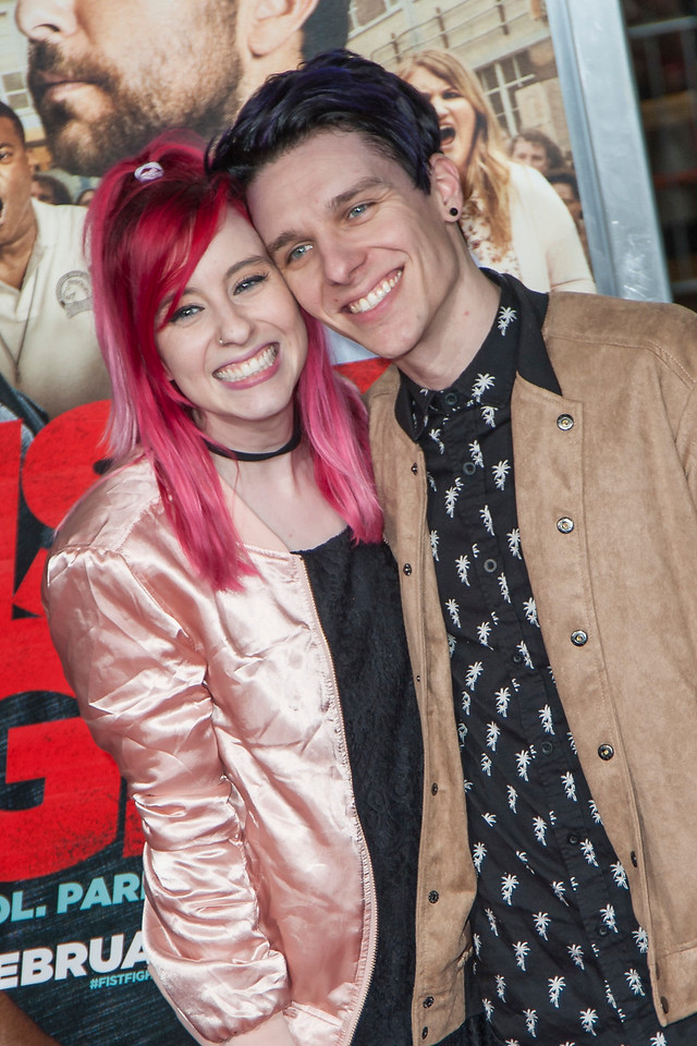 WESTWOOD, CA - FEBRUARY 13: Carly Incontro and Bruce Wiegner attend the premiere of Warner Bros. Pictures' 'Fist Fight' on Monday February 13, 2017 in Westwood, California. (Photo by Tom Sorensen/Moovieboy Pictures)
