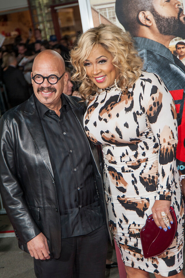 WESTWOOD, CA - FEBRUARY 13: Actress Kym Whitley (R) and Tom Joyner attend the premiere of Warner Bros. Pictures' 'Fist Fight' on Monday February 13, 2017 in Westwood, California. (Photo by Tom Sorensen/Moovieboy Pictures)