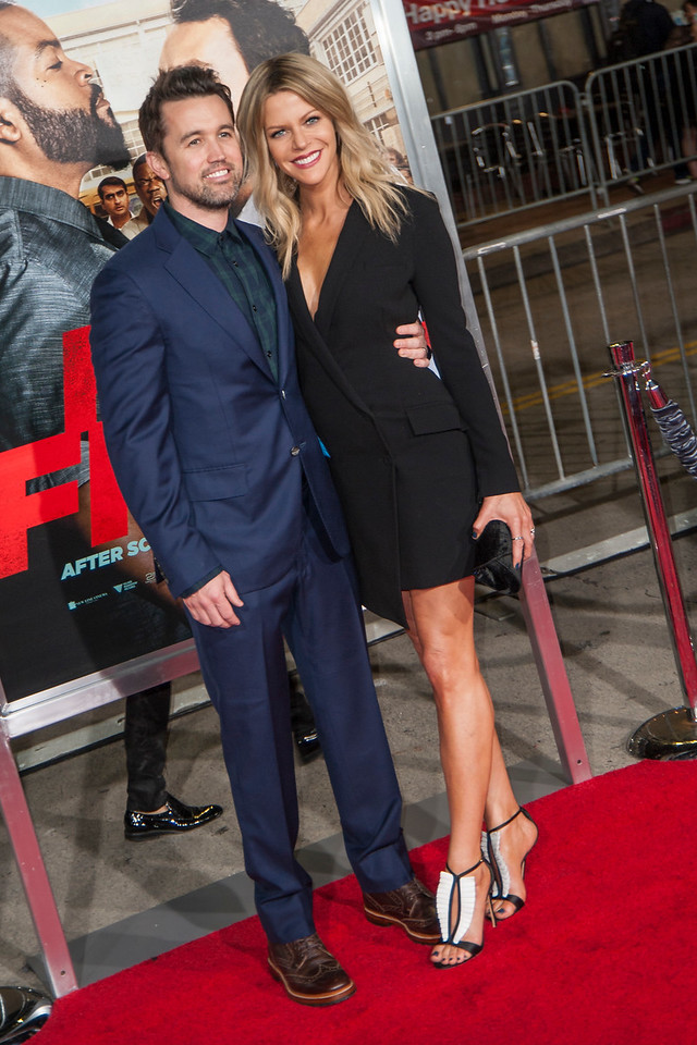 WESTWOOD, CA - FEBRUARY 13: Actors Rob McElhenney and Kaitlin Olson attend the premiere of Warner Bros. Pictures' 'Fist Fight' on Monday February 13, 2017 in Westwood, California. (Photo by Tom Sorensen/Moovieboy Pictures)
