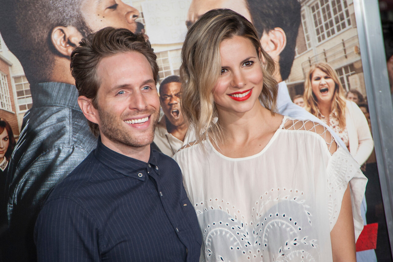 WESTWOOD, CA - FEBRUARY 13: Actor Glenn Howerton and Jill Latiano attend the premiere of Warner Bros. Pictures' 'Fist Fight' on Monday February 13, 2017 in Westwood, California. (Photo by Tom Sorensen/Moovieboy Pictures)