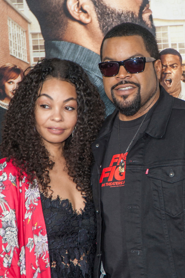 WESTWOOD, CA - FEBRUARY 13: Actor/rapper Ice Cube and Kimberly Woodruff attend the premiere of Warner Bros. Pictures' 'Fist Fight' on Monday February 13, 2017 in Westwood, California. (Photo by Tom Sorensen/Moovieboy Pictures)