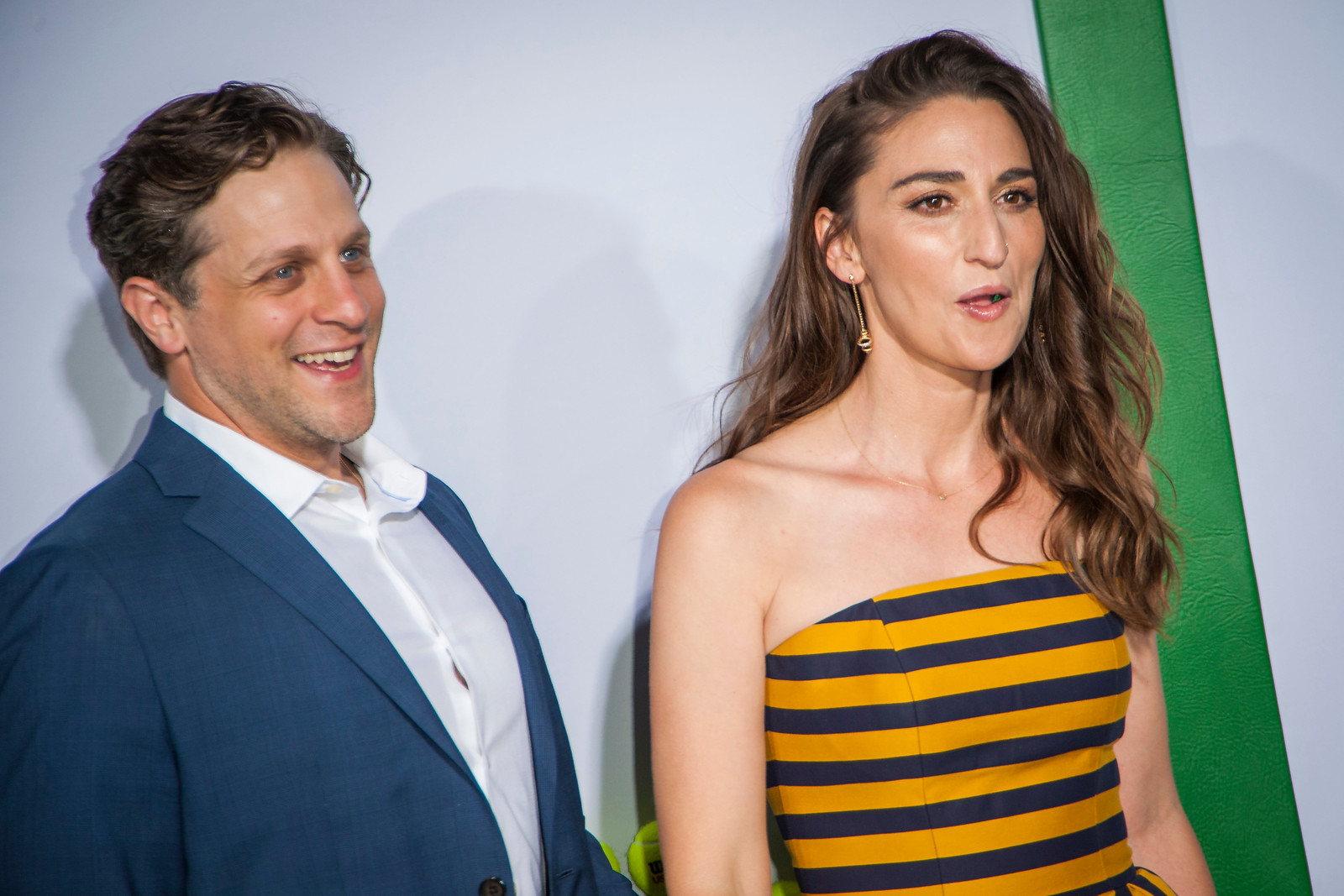 WESTWOOD, CA - SEPTEMBER 16: Musician Sara Bareilles (L) and Joe Tippett attend the premiere of Fox Searchlight Pictures' 'Battle Of The Sexes' at Regency Village Theatre on Saturday, September 16, 2017 in Westwood, California. (Photo by Tom Sorensen/Moovieboy Pictures)