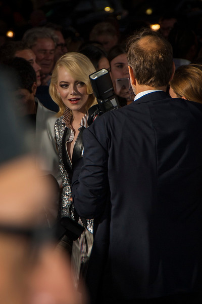 WESTWOOD, CA - SEPTEMBER 16: Actress Emma Stone attends the premiere of Fox Searchlight Pictures' 'Battle Of The Sexes' at Regency Village Theatre on Saturday, September 16, 2017 in Westwood, California. (Photo by Tom Sorensen/Moovieboy Pictures)