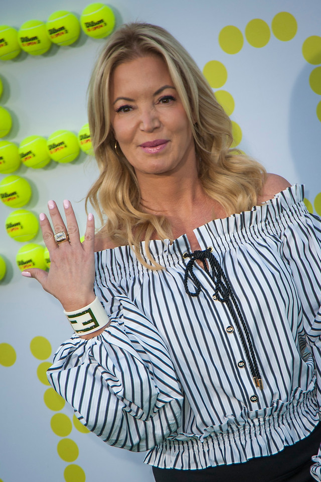 WESTWOOD, CA - SEPTEMBER 16: President of the LA Lakers Jeanie Buss attends the premiere of Fox Searchlight Pictures' 'Battle Of The Sexes' at Regency Village Theatre on Saturday, September 16, 2017 in Westwood, California. (Photo by Tom Sorensen/Moovieboy Pictures)