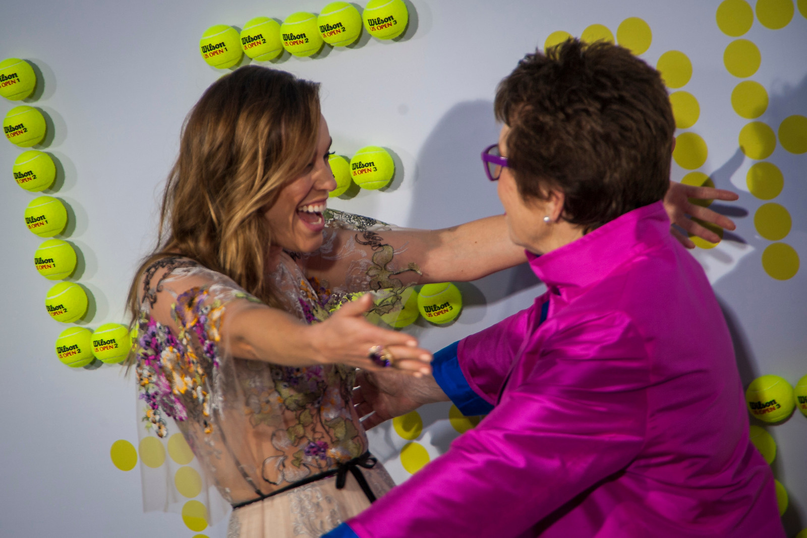 WESTWOOD, CA - SEPTEMBER 16: Actress Jessica McNamee anf tennis legend Billie Jean King the premiere of Fox Searchlight Pictures' 'Battle Of The Sexes' at Regency Village Theatre on Saturday, September 16, 2017 in Westwood, California. (Photo by Tom Sorensen/Moovieboy Pictures)