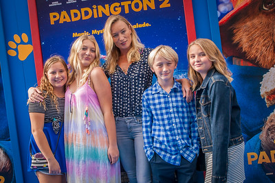 WESTWOOD, CA - JANUARY 06: Actress Victoria Smurfit, Evie Baxter, Ridley Baxter and guests attend the Los Angeles Premiere of 'Paddington 2' at Regency Village Theatre on Saturday January 6, 2018 in Westwood, California. (Photo by Tom Sorensen/Moovieboy Pictures)