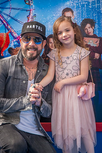 WESTWOOD, CA - JANUARY 06: Singer-songwriter AJ McLean (L) and daughter Ava Jaymes McLean attend the Los Angeles Premiere of 'Paddington 2' at Regency Village Theatre on Saturday January 6, 2018 in Westwood, California. (Photo by Tom Sorensen/Moovieboy Pictures)