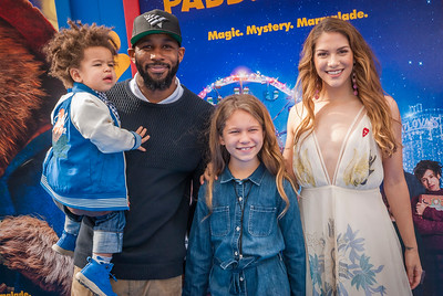 WESTWOOD, CA - JANUARY 06: Dancers Stephen 'tWitch' Boss (CL), Allison Holker (R), Weslie Fowler and Maddox Laurel attend the Los Angeles Premiere of 'Paddington 2' at Regency Village Theatre on Saturday January 6, 2018 in Westwood, California. (Photo by Tom Sorensen/Moovieboy Pictures)