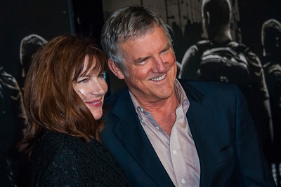 Actor Jamey Sheridan (R) and actress Colette Kilroy attend the premiere of Warner Bros. Pictures' 'The 15:17 to Paris' at Warner Bros. Studios on Monday, February 5, 2018 in Burbank, California. (Photo by Tom Sorensen/Moovieboy Pictures)