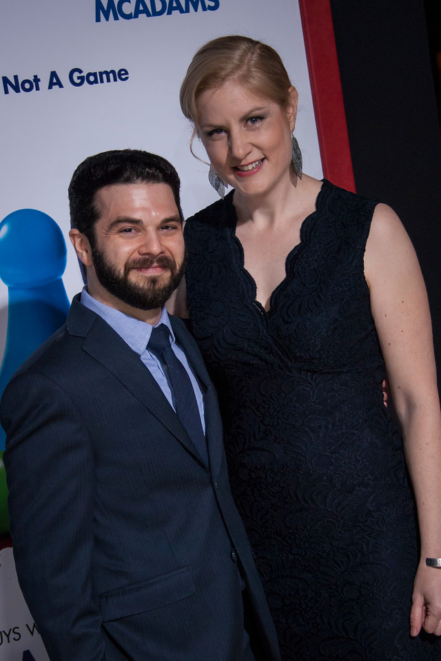 HOLLYWOOD, CA - FEBRUARY 21: Samm Levine and Rachel Cushing attend the premiere of New Line Cinema and Warner Bros. Pictures' 'Game Night' at TCL Chinese Theatre on Wednesday, February 21, 2018 in Hollywood, California. (Photo by Tom Sorensen/Moovieboy Pictures)