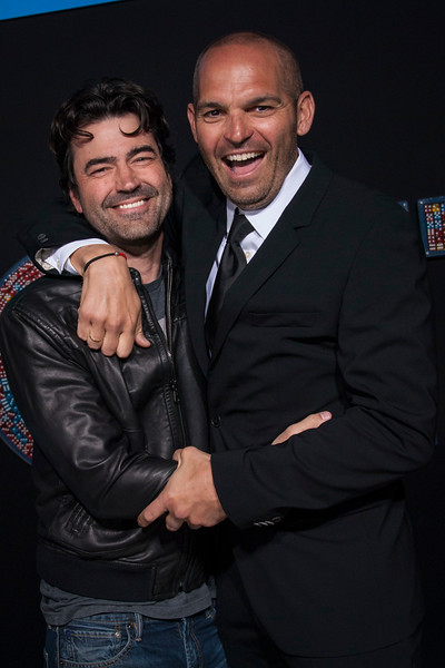 HOLLYWOOD, CA - FEBRUARY 21: Ron Livingston and Mark Perez attend the premiere of New Line Cinema and Warner Bros. Pictures' 'Game Night' at TCL Chinese Theatre on Wednesday, February 21, 2018 in Hollywood, California. (Photo by Tom Sorensen/Moovieboy Pictures)