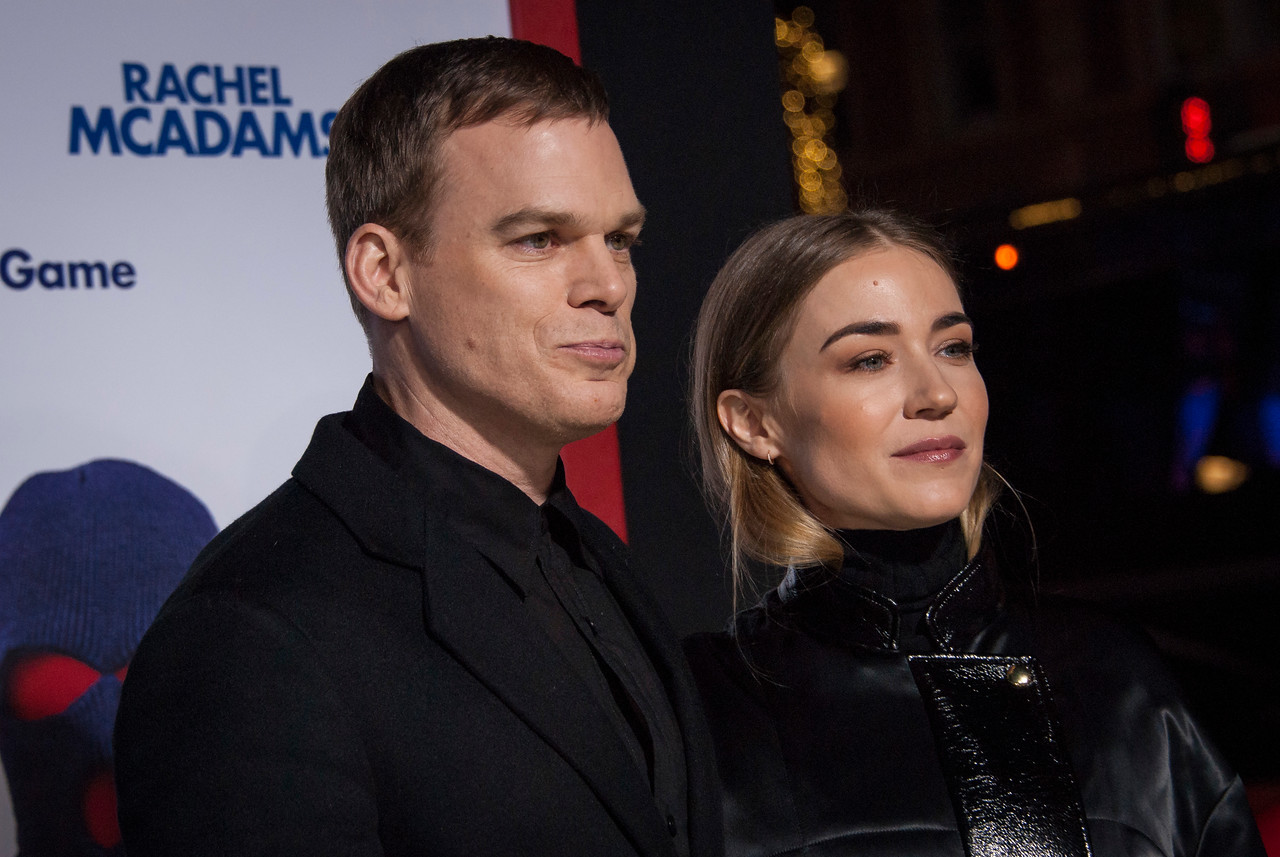 HOLLYWOOD, CA - FEBRUARY 21: Michael C. Hall and Morgan Macgregor attend the premiere of New Line Cinema and Warner Bros. Pictures' 'Game Night' at TCL Chinese Theatre on Wednesday, February 21, 2018 in Hollywood, California. (Photo by Tom Sorensen/Moovieboy Pictures)