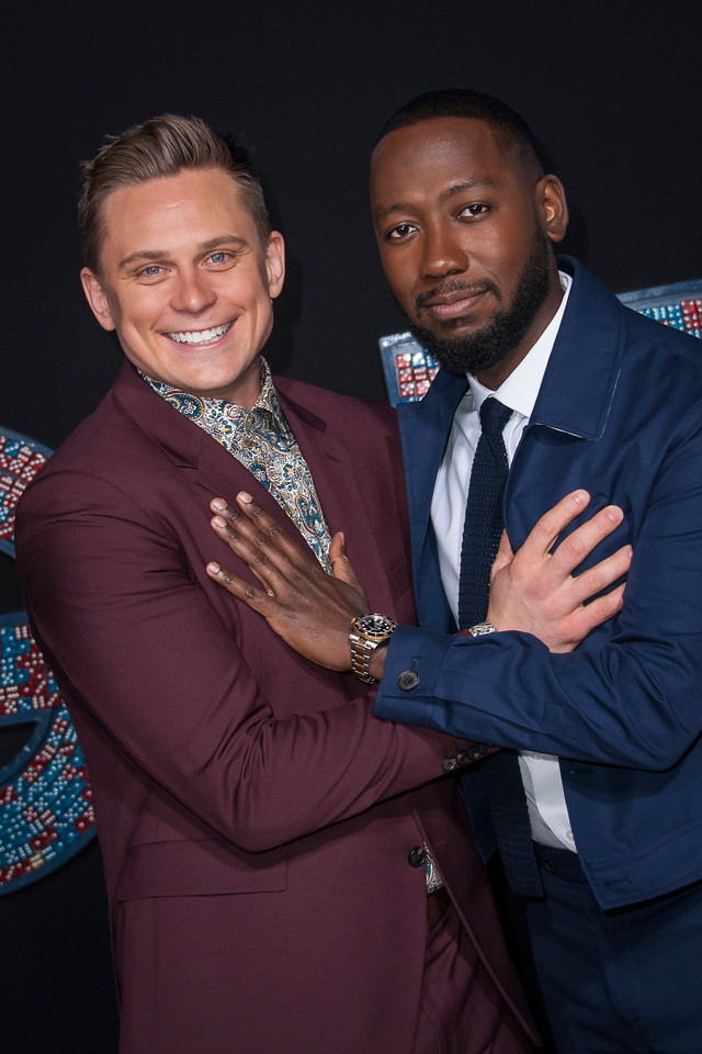 HOLLYWOOD, CA - FEBRUARY 21: Billy Magnussen and Lamorne Morris attend the premiere of New Line Cinema and Warner Bros. Pictures' 'Game Night' at TCL Chinese Theatre on Wednesday, February 21, 2018 in Hollywood, California. (Photo by Tom Sorensen/Moovieboy Pictures)