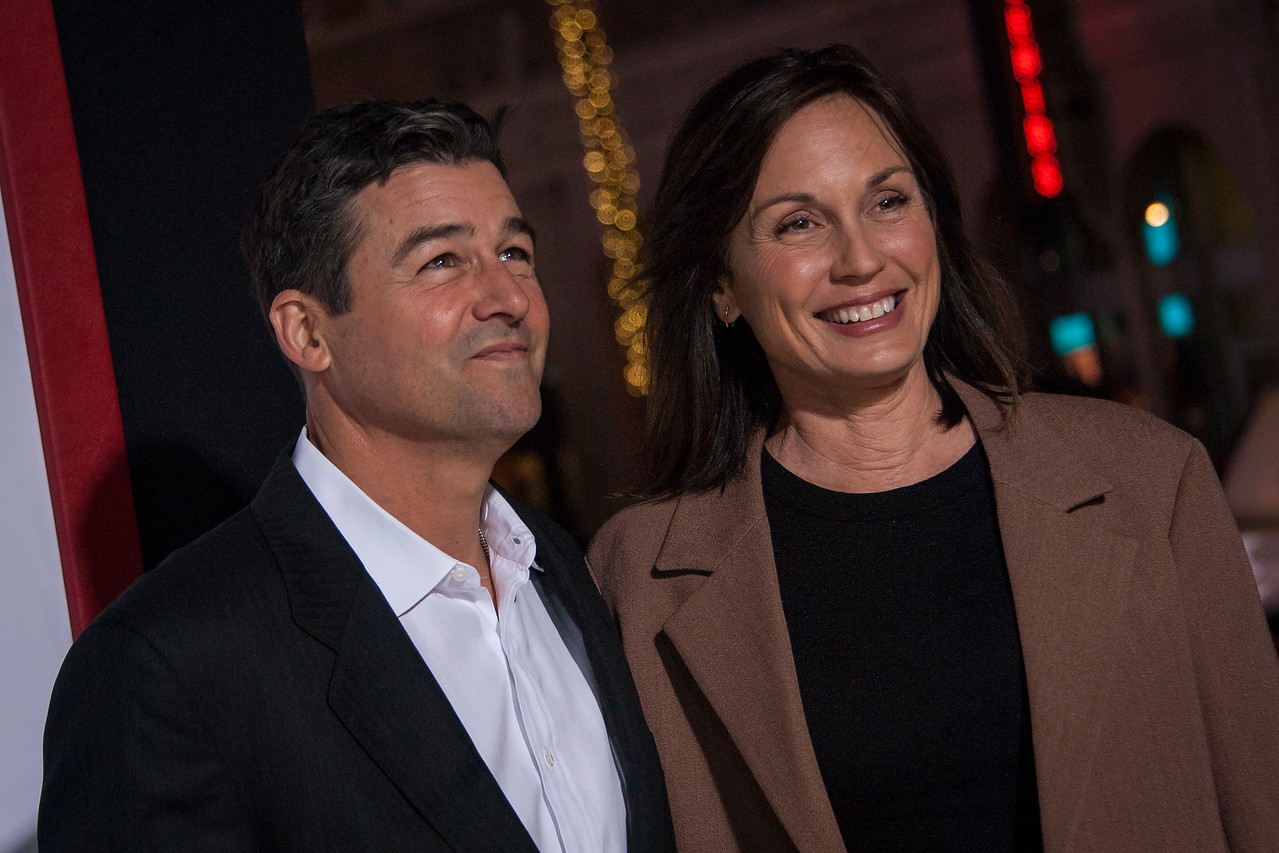 HOLLYWOOD, CA - FEBRUARY 21: Kyle Chandler and Kathryn Chandler attend the premiere of New Line Cinema and Warner Bros. Pictures' 'Game Night' at TCL Chinese Theatre on Wednesday, February 21, 2018 in Hollywood, California. (Photo by Tom Sorensen/Moovieboy Pictures)
