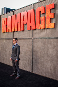 LOS ANGELES, CA - APRIL 04: Adam Sztykiel arrives at the Premiere Of Warner Bros. Pictures' 'Rampage' at Microsoft Theater on Wednesday April 4, 2018 in Los Angeles, California. (Photo by Tom Sorensen/Moovieboy Pictures)