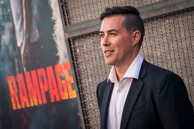 LOS ANGELES, CA - APRIL 04: Brad Peyton arrives at the Premiere Of Warner Bros. Pictures' 'Rampage' at Microsoft Theater on Wednesday April 4, 2018 in Los Angeles, California. (Photo by Tom Sorensen/Moovieboy Pictures)