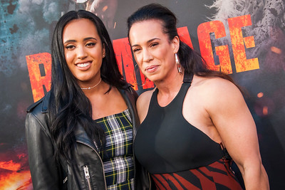LOS ANGELES, CA - APRIL 04: Simone Alexandra and Dany Garcia arrive at the Premiere Of Warner Bros. Pictures' 'Rampage' at Microsoft Theater on Wednesday April 4, 2018 in Los Angeles, California. (Photo by Tom Sorensen/Moovieboy Pictures)