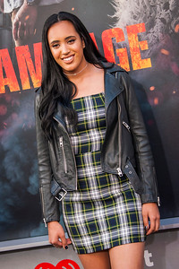 LOS ANGELES, CA - APRIL 04: Simone Alexandra  arrives at the Premiere Of Warner Bros. Pictures' 'Rampage' at Microsoft Theater on Wednesday April 4, 2018 in Los Angeles, California. (Photo by Tom Sorensen/Moovieboy Pictures)