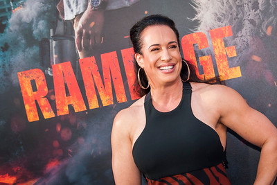 LOS ANGELES, CA - APRIL 04: Dany Garcia arrives at the Premiere Of Warner Bros. Pictures' 'Rampage' at Microsoft Theater on Wednesday April 4, 2018 in Los Angeles, California. (Photo by Tom Sorensen/Moovieboy Pictures)