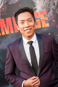 LOS ANGELES, CA - APRIL 04: David An arrives at the Premiere Of Warner Bros. Pictures' 'Rampage' at Microsoft Theater on Wednesday April 4, 2018 in Los Angeles, California. (Photo by Tom Sorensen/Moovieboy Pictures)