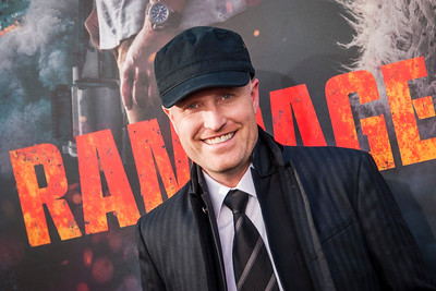 LOS ANGELES, CA - APRIL 04: Andrew Lockington arrives at the Premiere Of Warner Bros. Pictures' 'Rampage' at Microsoft Theater on Wednesday April 4, 2018 in Los Angeles, California. (Photo by Tom Sorensen/Moovieboy Pictures)