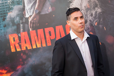 LOS ANGELES, CA - APRIL 04: Director Brad Peyton arrives at the Premiere Of Warner Bros. Pictures' 'Rampage' at Microsoft Theater on Wednesday April 4, 2018 in Los Angeles, California. (Photo by Tom Sorensen/Moovieboy Pictures)