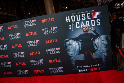 LOS ANGELES, CA - OCTOBER 22: Atmosphere at the Los Angeles premiere screening of Netflix's 'House Of Cards' Season 6 held at DGA Theater on Monday October 22, 2018 in Los Angeles, California. (Photo by Tom Sorensen/Moovieboy Pictures)