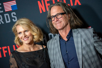 LOS ANGELES, CA - OCTOBER 22: Melissa James Gibson and guest attend the Los Angeles premiere screening of Netflix's 'House Of Cards' Season 6 held at DGA Theater on Monday October 22, 2018 in Los Angeles, California. (Photo by Tom Sorensen/Moovieboy Pictures)