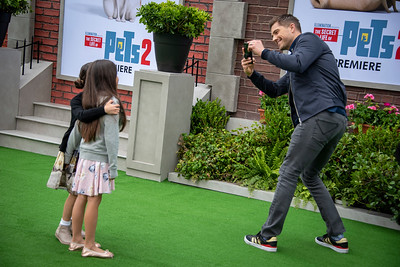 WESTWOOD, CALIFORNIA - JUNE 02: Eric Wynter, Sebella Rose Winter, and Dylan Gabriel Winter attend the Premiere of Universal Pictures' 'The Secret Life Of Pets 2' at Regency Village Theatre on Sunday, June 02, 2019 in Westwood, California. (Photo by Tom Sorensen/Moovieboy Pictures)