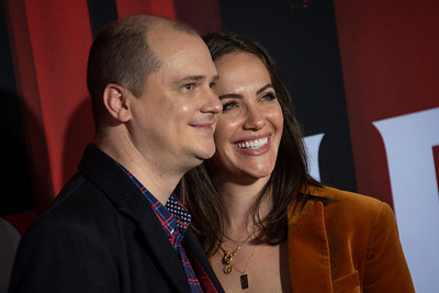 """LOS ANGELES, CALIFORNIA - OCTOBER 29: Mike Flanagan and Kate Siegel attend the premiere of Warner Bros Pictures' """"Doctor Sleep"""" at Westwood Regency Theater on Tuesday October 29, 2019 in Los Angeles, California. (Photo by Tom Sorensen/Moovieboy Pictures,)"""