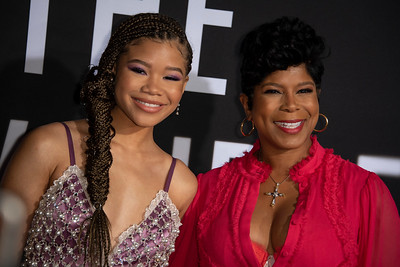 """HOLLYWOOD, CALIFORNIA - FEBRUARY 24: Storm Reid and guest attend the Premiere of Universal Pictures' """"The Invisible Man"""" at TCL Chinese Theatre on Monday, February 24, 2020 in Hollywood, California. (Photo by Tom Sorensen/Moovieboy Pictures)"""