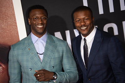 """HOLLYWOOD, CALIFORNIA - FEBRUARY 24: Aldis Hodge and Edwin Hodge attends the Premiere of Universal Pictures' """"The Invisible Man"""" at TCL Chinese Theatre on Monday, February 24, 2020 in Hollywood, California. (Photo by Tom Sorensen/Moovieboy Pictures)"""