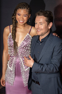 """HOLLYWOOD, CALIFORNIA - FEBRUARY 24: Storm Reid and Leigh Whannell attend the Premiere of Universal Pictures' """"The Invisible Man"""" at TCL Chinese Theatre on Monday, February 24, 2020 in Hollywood, California. (Photo by Tom Sorensen/Moovieboy Pictures)"""