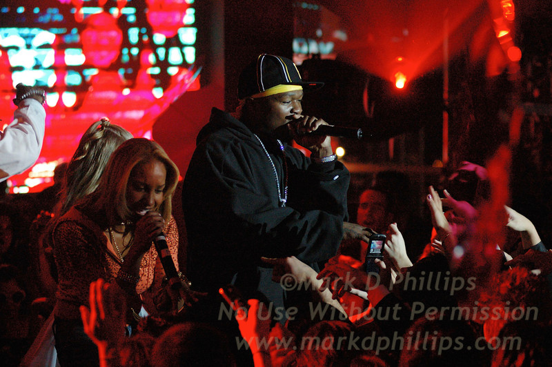 Curtis James Jackson III, rapper 50 Cent, at the Rainbow Room during the $10 million bat mitzvah of Long Island 13-year-old, Elizabeth Brooks, daughter of defense contractor David H. Brooks, CEO of DHB Industries, a Long Island company that manufactured body armor for the United States military, on Nov 27, 2005.