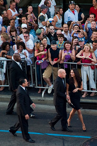 HOLLYWOOD, CALIFORNIA — Bruce Willis and his wife Emma Heming arrive for the world premiere of 'Surrogates' at the El Capitan Theater in the Hollywood section of Los Angeles on Photo taken on Thursday, September 24, 2009 by Tom Sorensen/Moovieboy Pictures