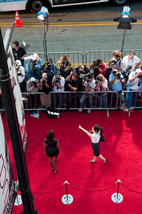 HOLLYWOOD, CALIFORNIA — Castmember Ella Thomas arrive for the world premiere of 'Surrogates' at the El Capitan Theater in the Hollywood section of Los Angeles on Photo taken on Thursday, September 24, 2009 by Tom Sorensen/Moovieboy Pictures