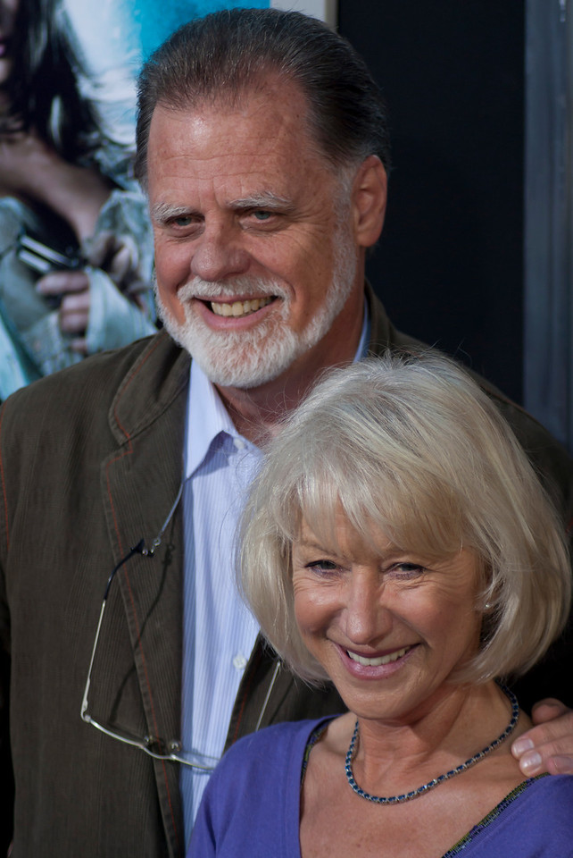 HOLLYWOOD - JUNE 17: Director Taylor Hackford and wife actress Helen Mirren arrive at the 'Jonah Hex' Los Angeles Premiere held at ArcLight Cinemas Cinerama Dome on June 17, 2010 in Hollywood, California. (Photo by Tom Sorensen/Moovieboy Pictures)