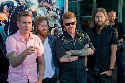 HOLLYWOOD - JUNE 17: Musicians Brann Dailor, Brent Hinds, Bill Kelliher and Troy Sanders of Mastodon arrive at the 'Jonah Hex' Los Angeles Premiere held at ArcLight Cinemas Cinerama Dome on June 17, 2010 in Hollywood, California. (Photo by Tom Sorensen/Moovieboy Pictures)